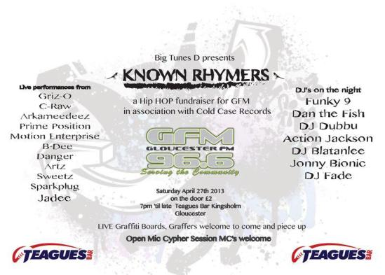 Event | Big Tunes D Presents Known Rhymers